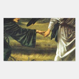 Love Leading The Pilgrim by Edward Burne-Jones Sticker
