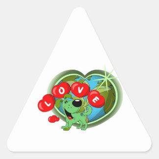 Love (Leaf - Earth Day) Triangle Sticker