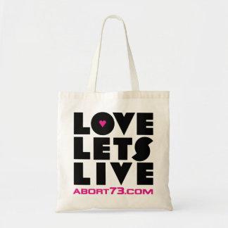 Love Lets Live / Abort73.com Budget Tote Bag