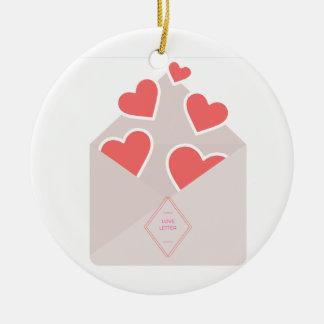 Love letter ornament