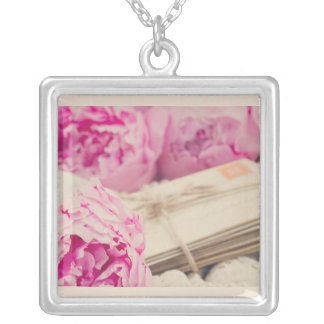 Love letter pendant... silver plated necklace