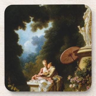 Love Letters by Jean Honore Fragonard Beverage Coasters