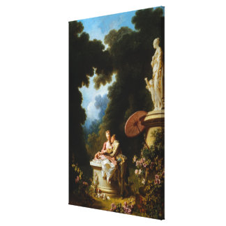 <Love Letters> by Jean Honore Fragonard Canvas Print