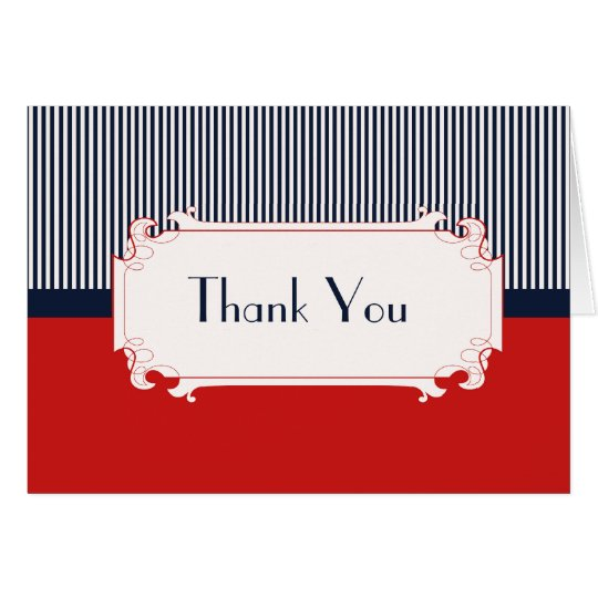 Love Letters Nautical Thank You Note Card