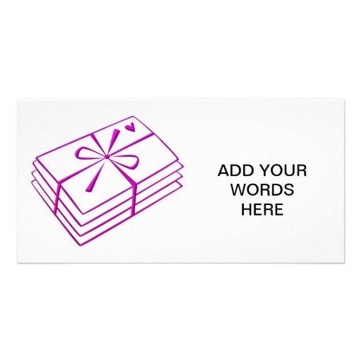 Love letters photo card template