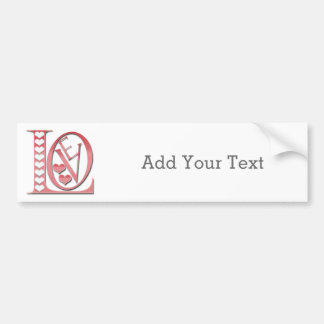 Love Letters With Hearts by Shirley Taylor Bumper Sticker