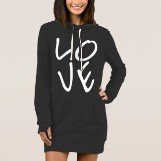 LOVE Letters Women's Hoodie Dress