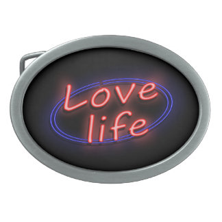 Love life. belt buckle