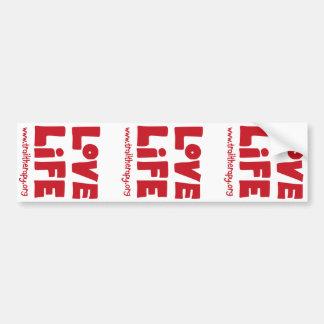 Love Life Bumper Sticker (times three)