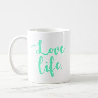 Love Life Calligraphy Coffee Mug