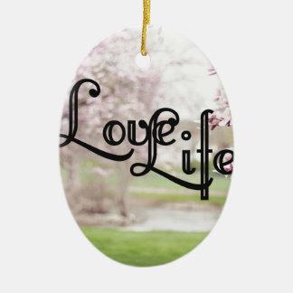 Love Life Ceramic Oval Ornament