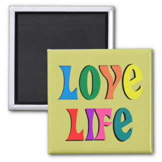 LOVE LIFE! customizable christian message Magnet