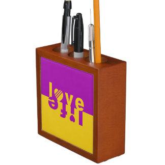 Love / Life desk organizer