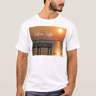 Love Life - Dock and Sunset T-Shirt