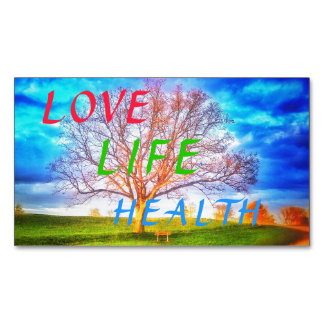 LOVE LIFE HEALTH TREE MAGNET