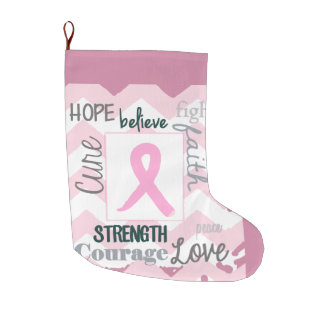 Love, Life, Hope Breast Cancer Stocking