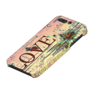 Love, life, peace graphics background iphone case. iPhone 5/5S cover