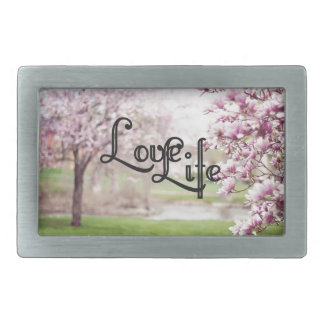 Love Life Rectangular Belt Buckles