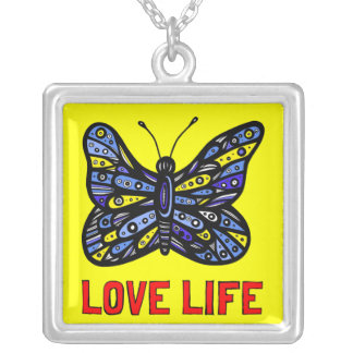"""Love Life"" Sterling Silver Necklace"