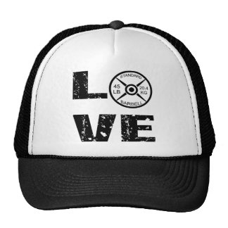 Love Lifting Weights Trucker Hat