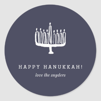 Love + Light Hanukkah Holiday Stickers - Light