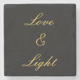 Love & Light Stone Beverage Coaster