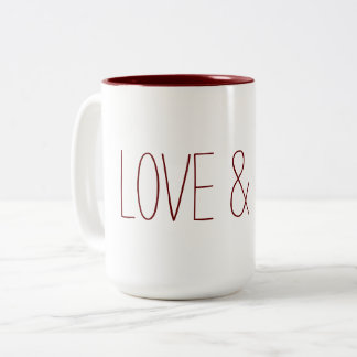 Love & Light Two-Tone Coffee Mug