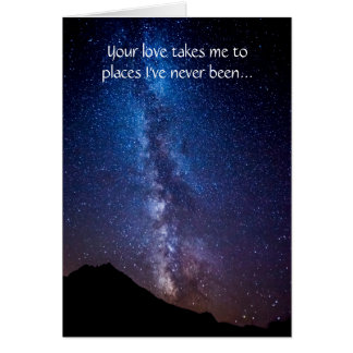 Love Lights Our Way Milky Way Stars Greeting Card