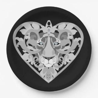 Love Lioness Locket paper plate
