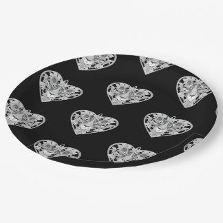 Love Lioness Locket (pattern) paper plate