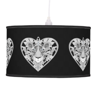 Love Lioness Locket pendant lamp (velvet-black)