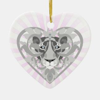 Love Lioness Locket(starburst)heart-shapedornament Ceramic Ornament