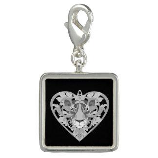 Love Lioness Locket (velvet black) square charm