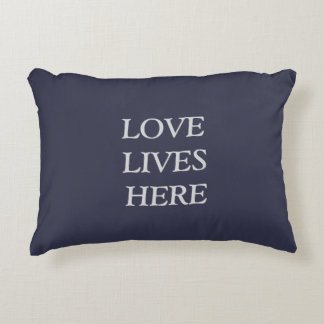 Love lives here decorative pillow