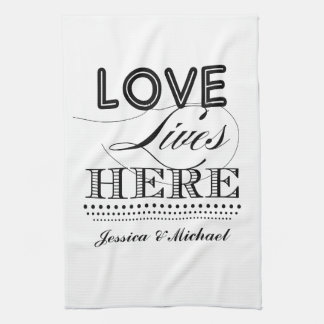 Love Lives Here Hand Towels