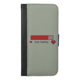 love loading gaming heart Zev4x iPhone 6/6s Plus Wallet Case