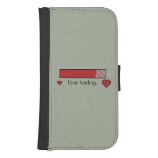 love loading gaming heart Zev4x Samsung S4 Wallet Case