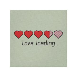 Love loading hearts Zzl2s Canvas Print