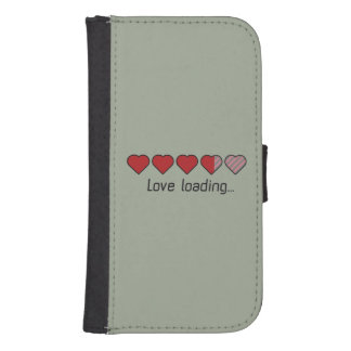 Love loading hearts Zzl2s Samsung S4 Wallet Case