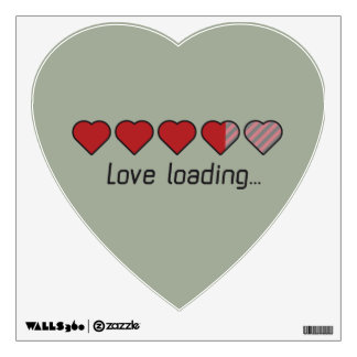 Love loading hearts Zzl2s Wall Decal