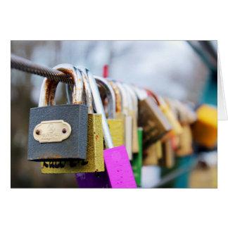 Love Lock Bridge Card