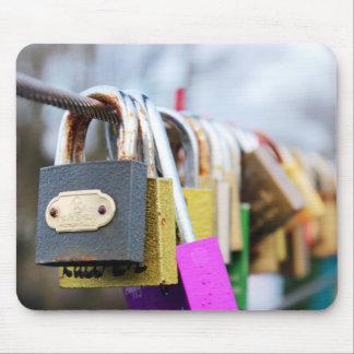 Love Lock Bridge Mouse Pad