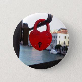love lock in venice 2 inch round button