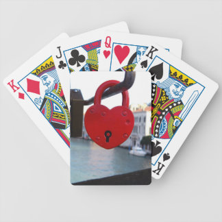 love lock in venice bicycle playing cards