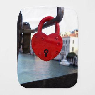 love lock in venice burp cloth