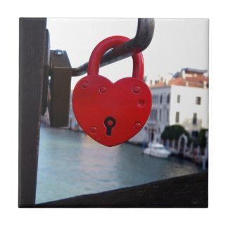 love lock in venice ceramic tiles