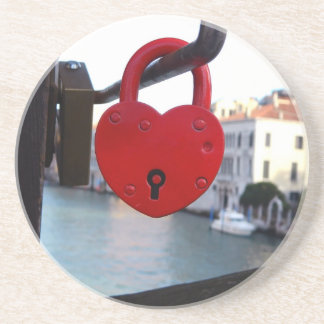 love lock in venice drink coasters