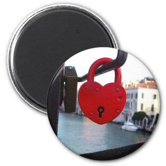 love lock in venice magnet