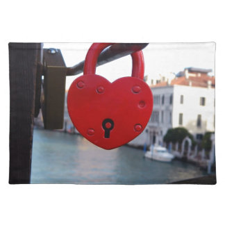 love lock in venice placemat