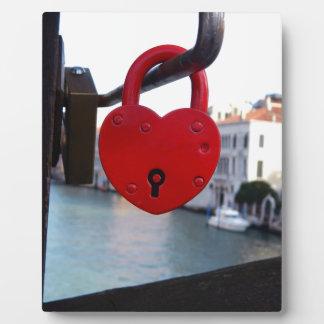 love lock in venice plaque